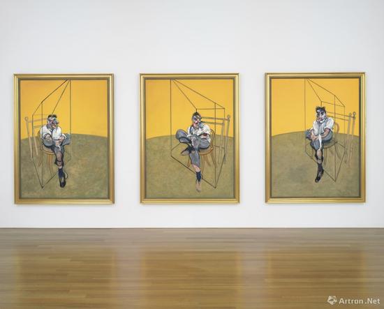 英国画家弗朗西斯·培根(1909~1992年)《三联画》(2014年在纽约拍卖会拍出1.424亿美元)