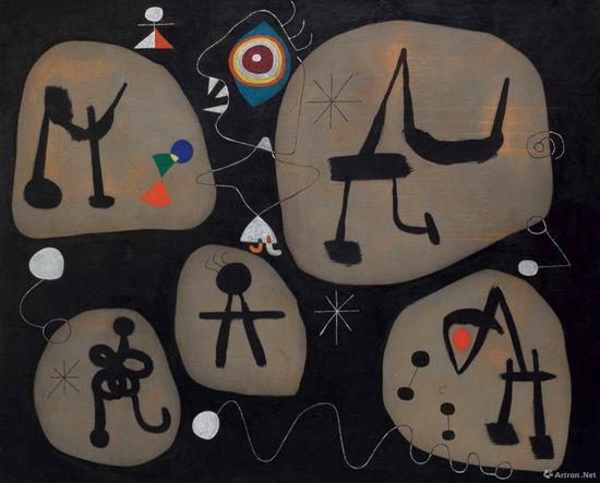 胡安·米罗作品128.5 x 161.6cm 油彩画布 1945年作