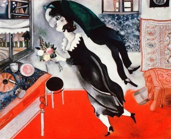 ・ 马克・夏加尔《生日》1915年 油画 @纽约现代艺术博物馆