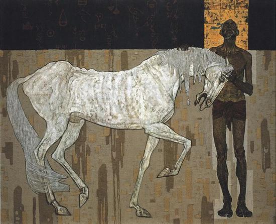 王怀庆《伯乐》油彩画布,154.5×200cm,