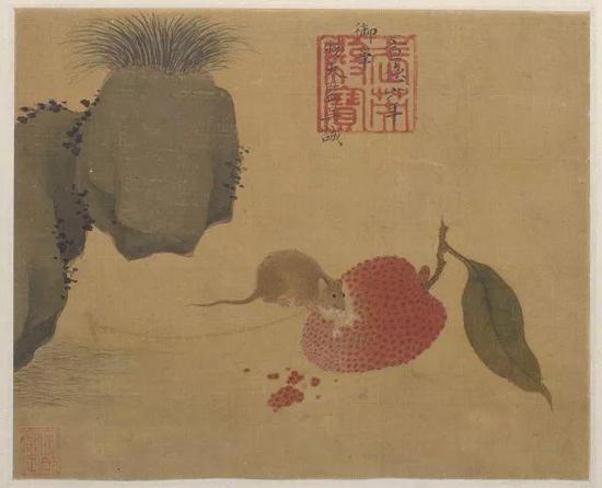 ▲明宣宗 《瓜鼠图》册页 故宫博物院藏