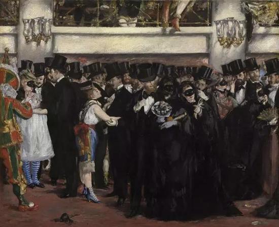 ▲ 歌剧院舞会 59.1x72.5cm 布面油画 1873-1874