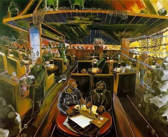 伊门多夫《德国咖啡馆-4》1978
