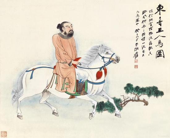 张大千《东丹王人马图》