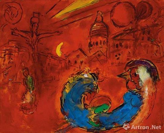 拍品编号120 马克·夏加尔 (1887-1985) 《小丘广场》