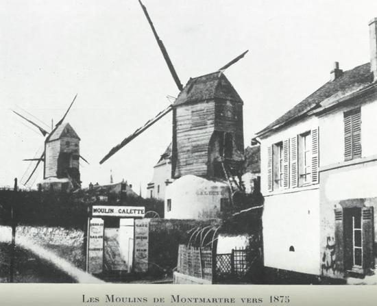 十九世纪末的煎饼磨坊正门