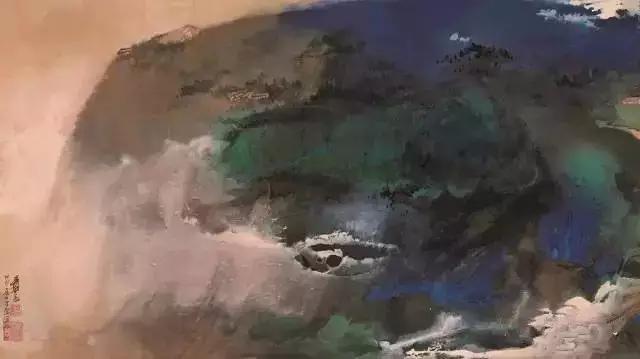 在2010年的中国嘉德春季拍卖会上,张大千的《爱痕湖》以900万的起拍价,最终拍得了1.00080亿元的天价。