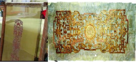 漆纱彩绘夹纱隔扇