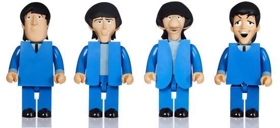 Medicom Toy Kubrick 1000% THE BEATLES 披头士   全套4只附原双盒 2008年