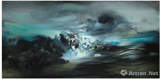 位居现代艺术成交价第三位的朱德群《第268号构图》 成交价:7570.6万港币