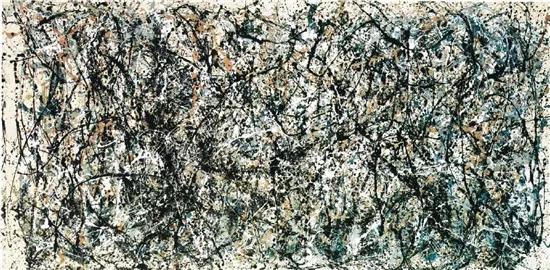 杰克逊·波洛克 第31号 269.5×530cm 布面油画 1950年  现藏于纽约现代艺术博物馆(MoMA)