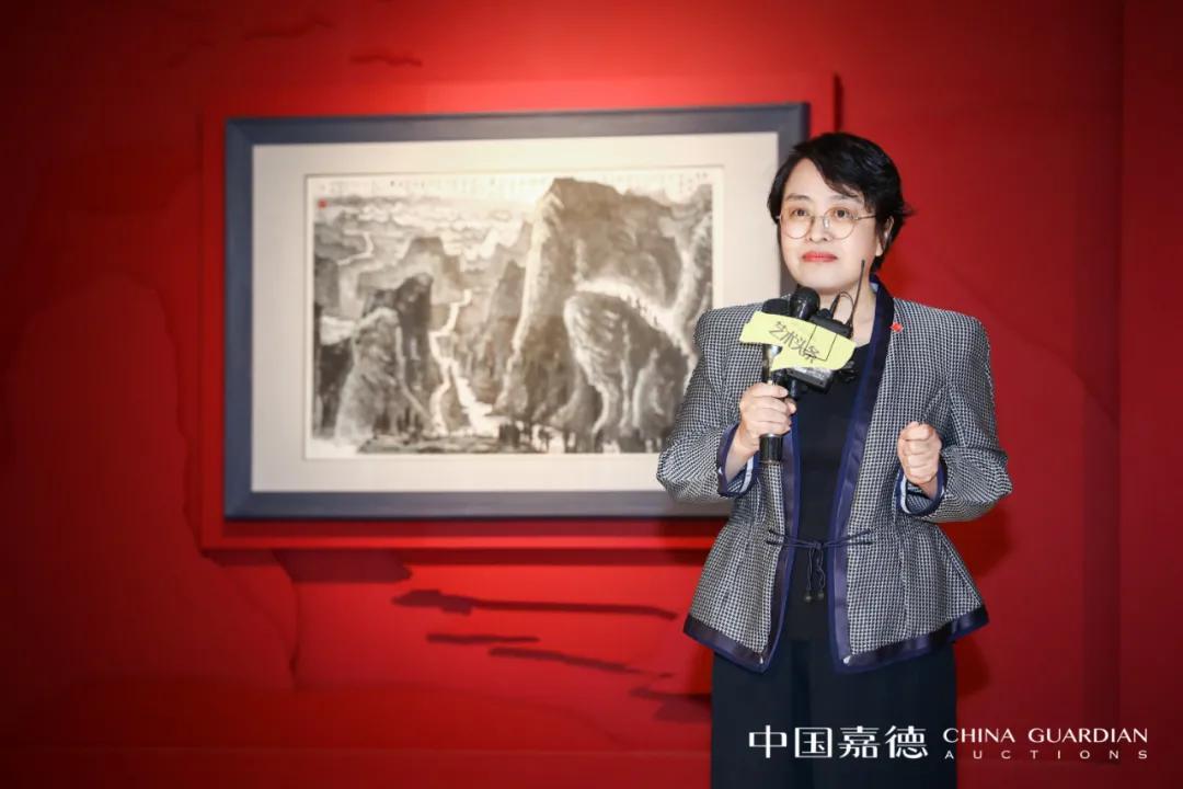 中国嘉德董事总裁胡妍妍女士致展览开幕词