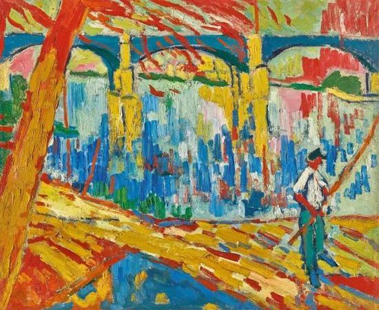 毛利斯?德?弗拉芒克,《沙图的渔夫》,1906年作估价:900-1,400万美元