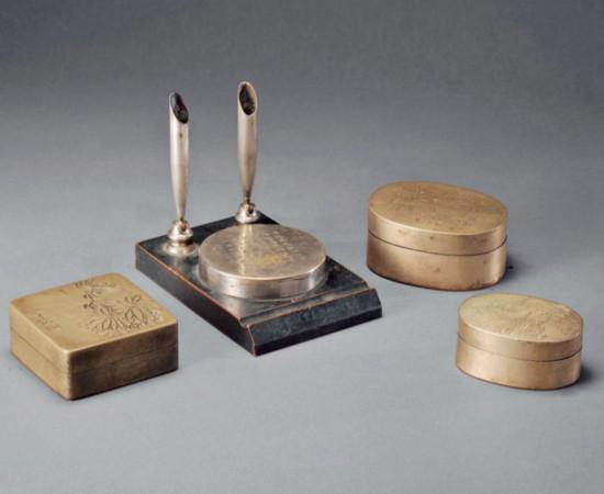 铜墨盒:鲜为人知的文房藏品-陶瓷工艺品
