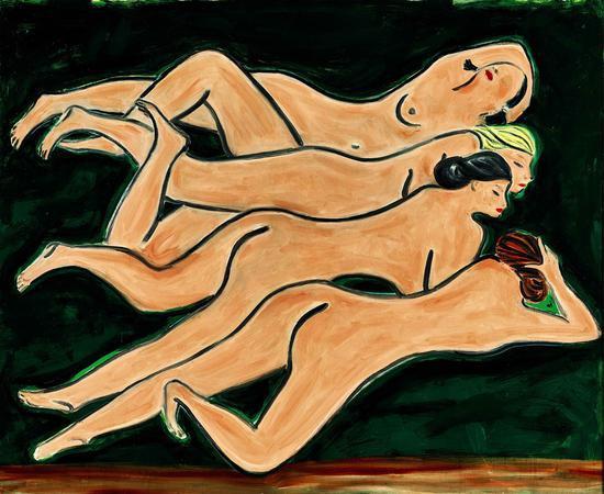 《绿色背景四裸女》2.58亿成交 为7月香港拍卖季最贵拍品