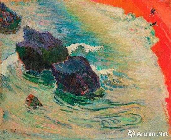 保罗-高更《海浪》 油彩 画布 60.2 x 72.6 cm。 1888年 成交价:3518.75万美元