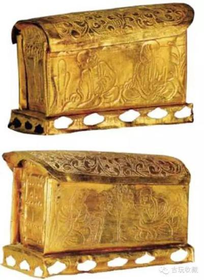 图:宋代錾花舍利金棺