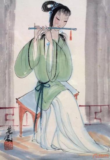 看一代画家林风眠的仕女魂图每一幅都是那么的曼妙多姿