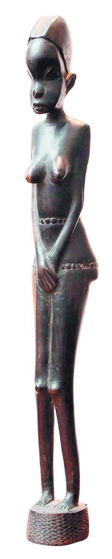 非洲石头烧造出来的羚羊造型的雕塑