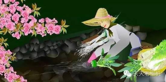 74岁日本老人 用Excel创作山水风景画