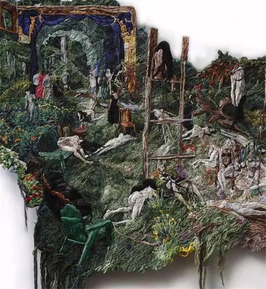 画画与刺绣结合的奇妙创意