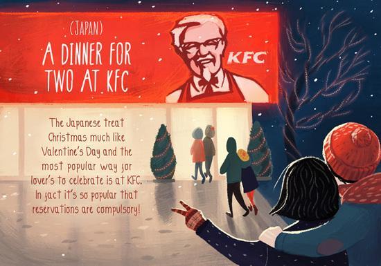 跟著插画尝试别国圣诞传统