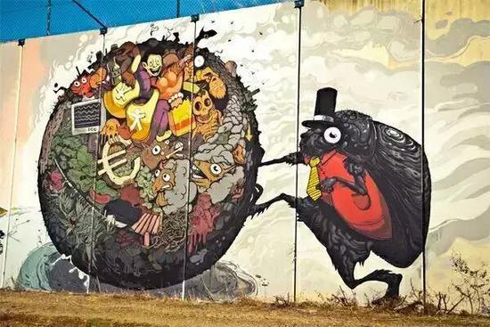 转角爱上艺术 令人惊叹的墙绘