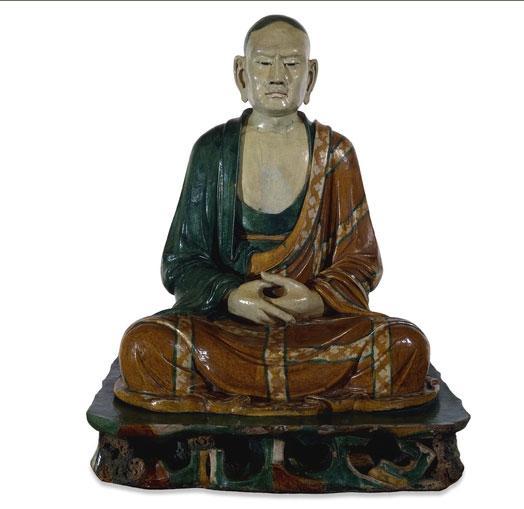 陶瓷罗汉 辽代 (公元907至1125年)出自中国河北