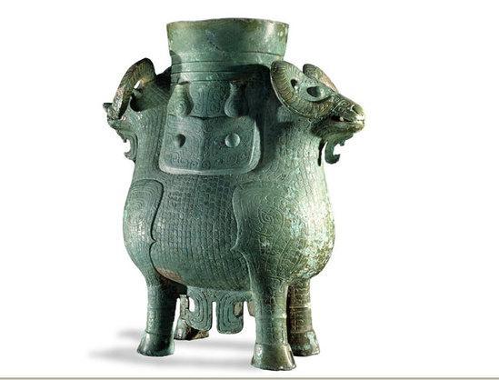 青铜尊 商 (公元前13-12世纪)可能出自中国南部 湖南省
