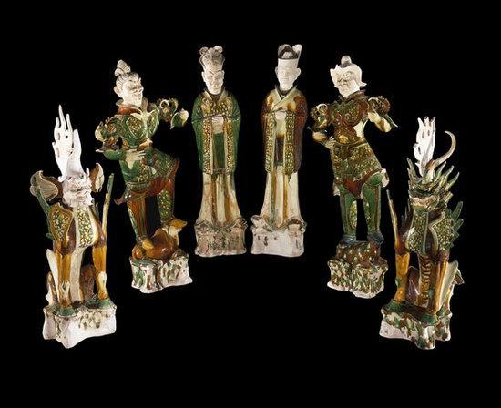 唐墓葬雕塑 唐代 约公元728年 可能出自中国河南