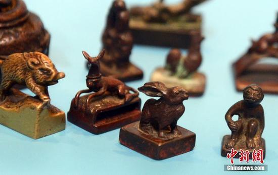 跨越近千年十二生肖铜纽印章现福州