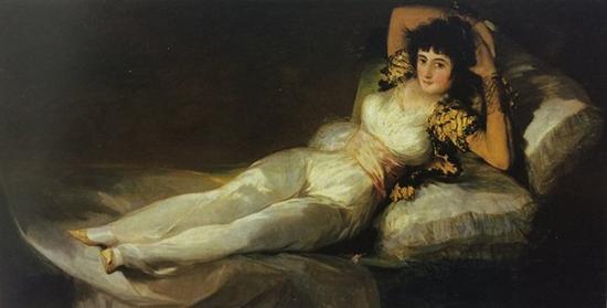 《着衣的马哈》1800-1805年,布面油画,95cm*190cm,马德里,普拉多博物馆