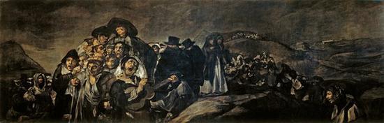 《圣伊西多雷的朝圣之旅》1820-1823年,油画,从灰泥墙面转移到画布,140cm*438cm,马德里,普拉多博物馆