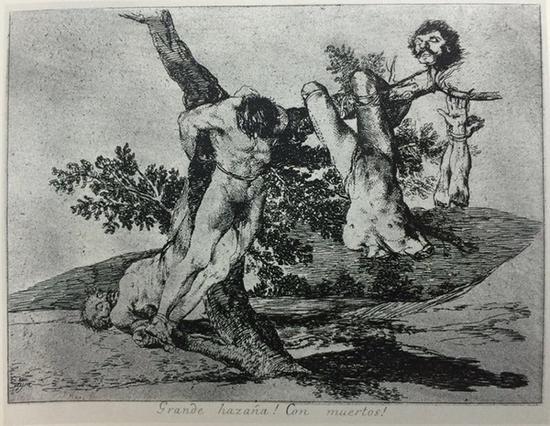 《英勇之举!壮烈成仁!》选自《战争的灾难》,1810-1820,蚀刻画,15.7cm*20.7cm