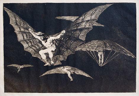 《飞行的方式》选自《荒诞集》约1816-1823年,凹版蚀刻画