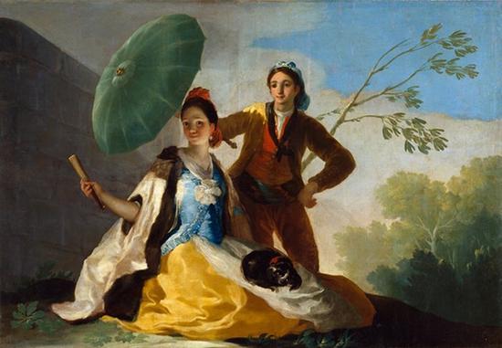《阳伞》,1777年,   布面油画, 104*152cm 马德里,  普拉多博物馆