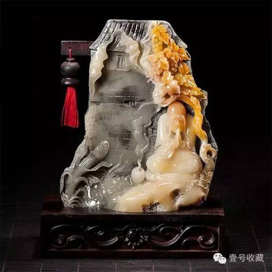精美寿山石雕,石不能言最可人!