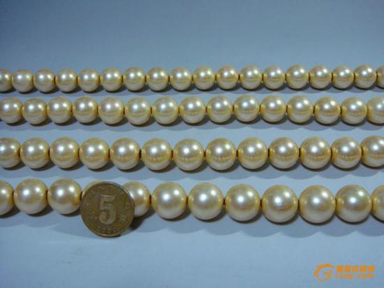藏品尺寸/规格:东珠大珍珠108颗、珠子直径14mm
