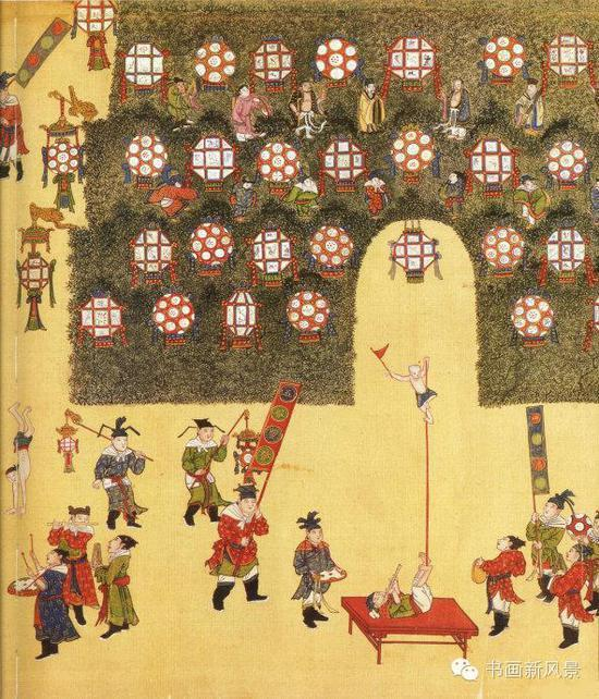 古画中的元宵行乐图,还是人家皇帝会玩!