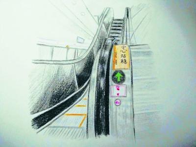 地铁员工手绘漫画 讲解神秘按钮
