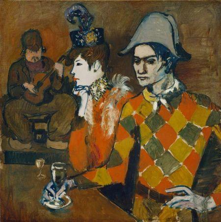 毕加索《在狡兔酒吧》 1905年