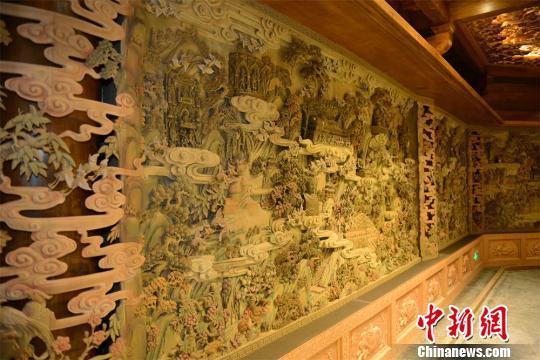 用5吨沉香打造的佛教源流艺术馆 唐娟 摄