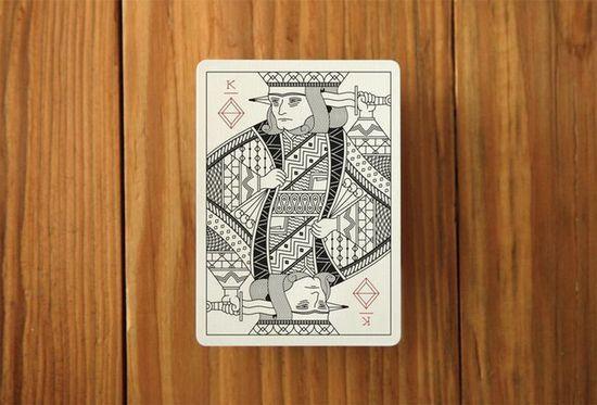 设计师精心设计的手绘扑克牌