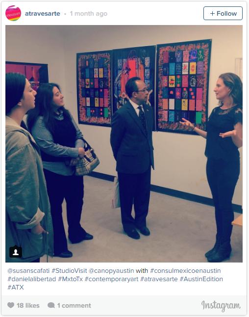 @susanscafati #StudioVisit @canopyaustin with #consulmexicoenaustin #danielalibertad #MxtoTx #contemporaryart #atravesarte #AustinEdition #ATX