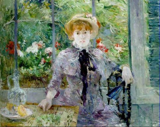 贝尔特·莫里索,《午饭后》(1881) 图片: Courtesy of Christie's London.