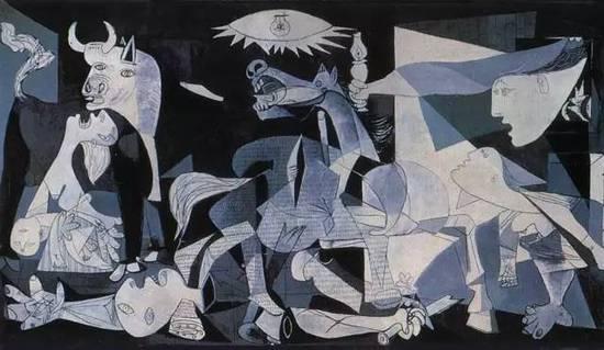 《格尔尼卡》,1937  Françoise Gilot是一名法国作家、评论家。1944年至1953年间与毕加索相爱。在毕加索一生的七八个女性伴侣中,吉珞特是唯一一个主动离开毕加索的,然后写了那本畅销全世界的《与毕加索共同生活的日子》。