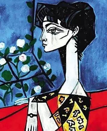 《Jacqueline Roque与花》