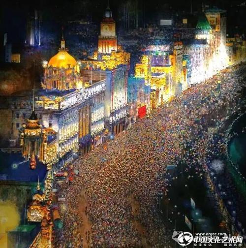 上海万达瑞华酒店 黄来铎《节日》作品位置:酒店前台