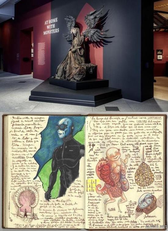 德尔托罗收藏雕像和手绘