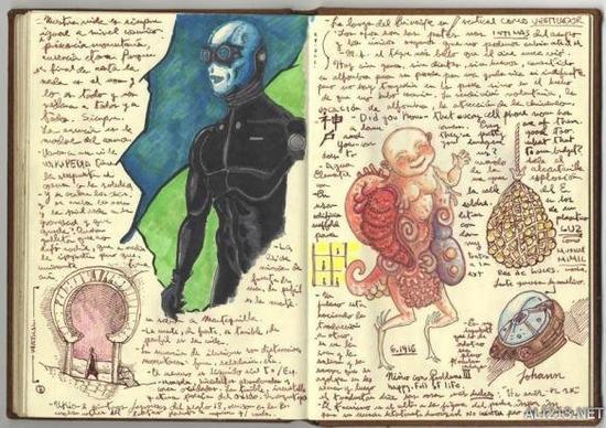 《地狱男爵》手绘